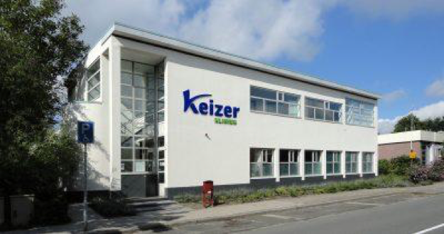 Het gebouw van bekkenbodemkliniek Keizer Kliniek in Voorschoten